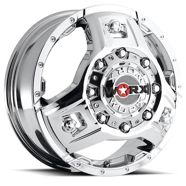 801 TRIAD DUALLY CHROME RIM FRONT by WORX WHEELS