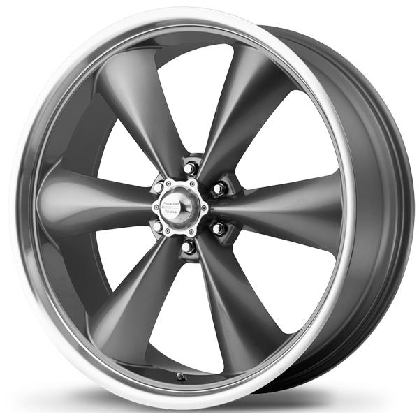 AR104 TORQ THRUST ST GRAY RIM with MACHINED LIP by AMERICAN RACING WHEELS