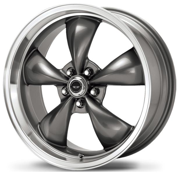 AR105 TORQ THRUST M ANTHRACITE RIM with MACHINED LIP by AMERICAN RACING WHEELS
