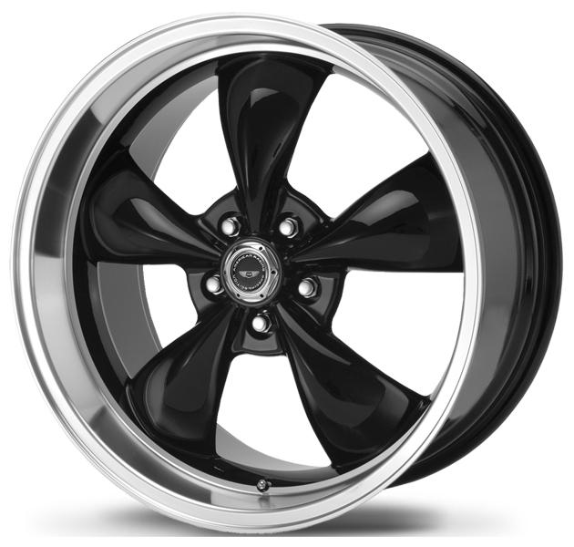 AR105 TORQ THRUST M GLOSS BLACK RIM with MACHINED LIP by AMERICAN RACING WHEELS