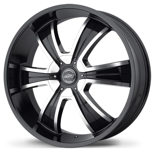 AR894 GLOSS BLACK RIM with MACHINED FACE by AMERICAN RACING WHEELS