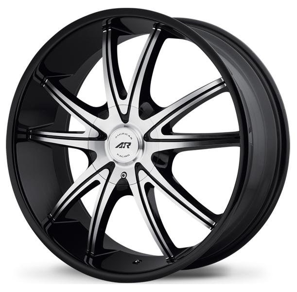 AR897 GLOSS BLACK RIM with MACHINED FACE by AMERICAN RACING WHEELS