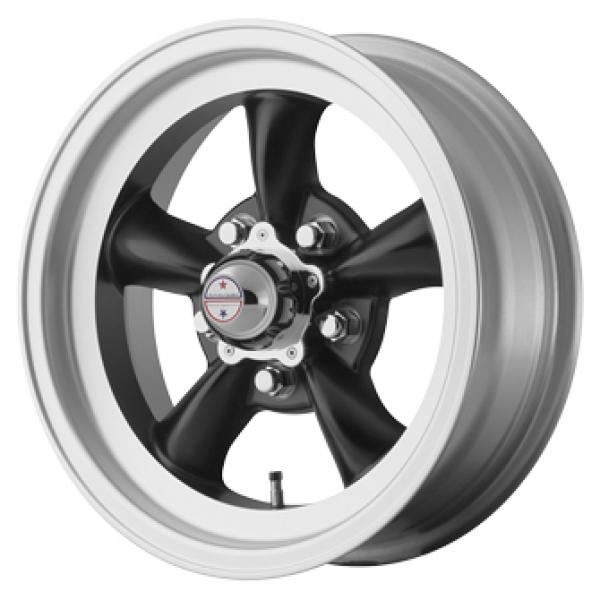 VN105D TORQ THRUST D SATIN BLACK with MACHINED LIP by AMERICAN RACING WHEELS