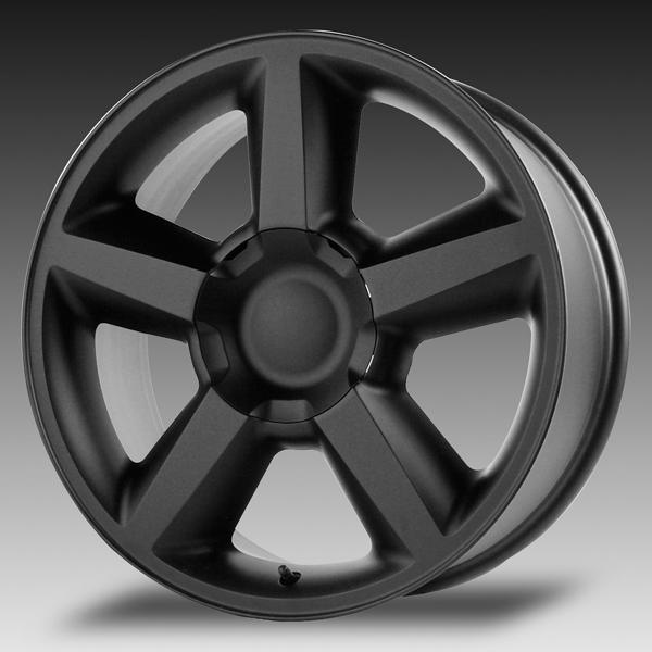 V1164 TAHOE LTZ MATTE BLACK RIM by WHEEL REPLICAS WHEELS