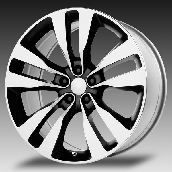 V1167 2012 CHARGER SRT8 BLACK RIM with MACHINED FACE by WHEEL REPLICAS WHEELS