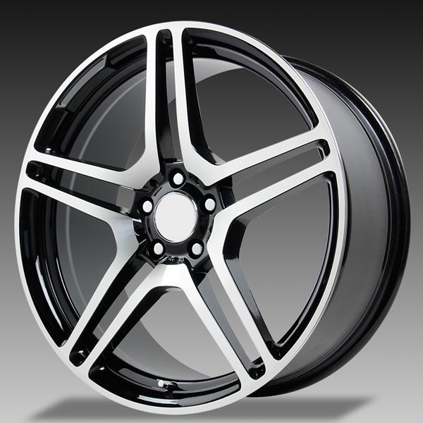 V1174 CL65 GUNMETAL RIM with MACHINED FACE by WHEEL REPLICAS WHEELS