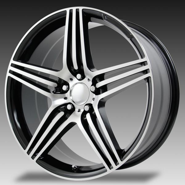 V1175 SL63 GUNMETAL RIM with MACHINED FACE by WHEEL REPLICAS WHEELS
