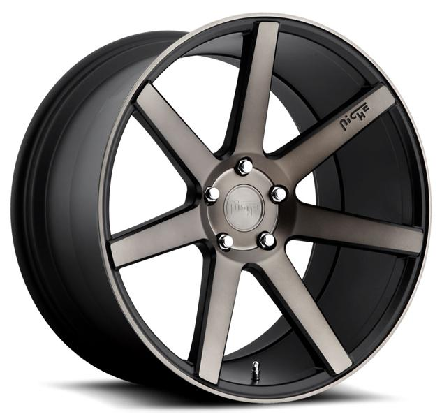 VERONA M150 BLACK RIM with MACHINED FACE DDT by NICHE WHEELS