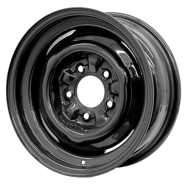 OE MATTE BLACK RIM with CAP and TRIM RING by HRH STEEL WHEELS