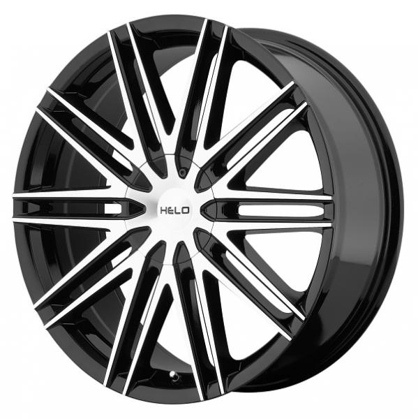 HE880 GLOSS BLACK RIM with MACHINED FACE by HELO WHEELS
