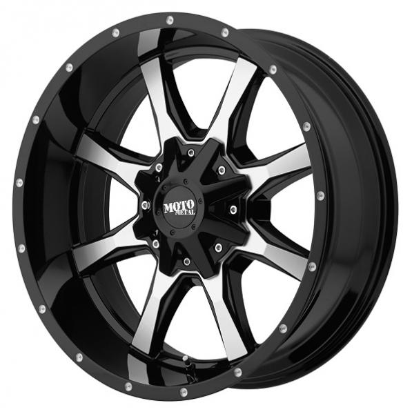 MO970 GLOSS BLACK RIM with MACHINED FACE by MOTO METAL WHEELS