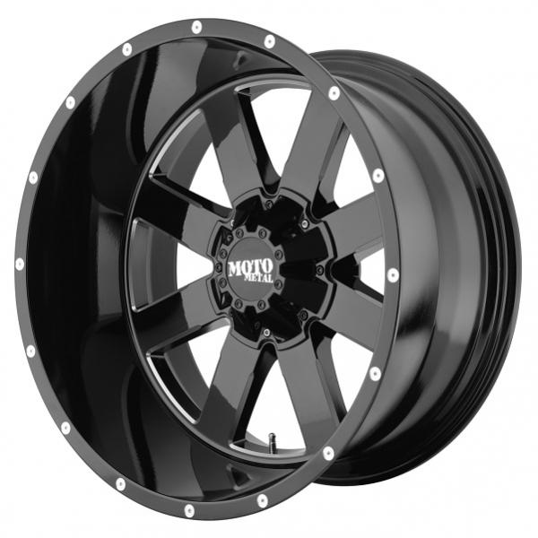 MO962 GLOSS BLACK RIM with MILLED ACCENTS by MOTO METAL WHEELS