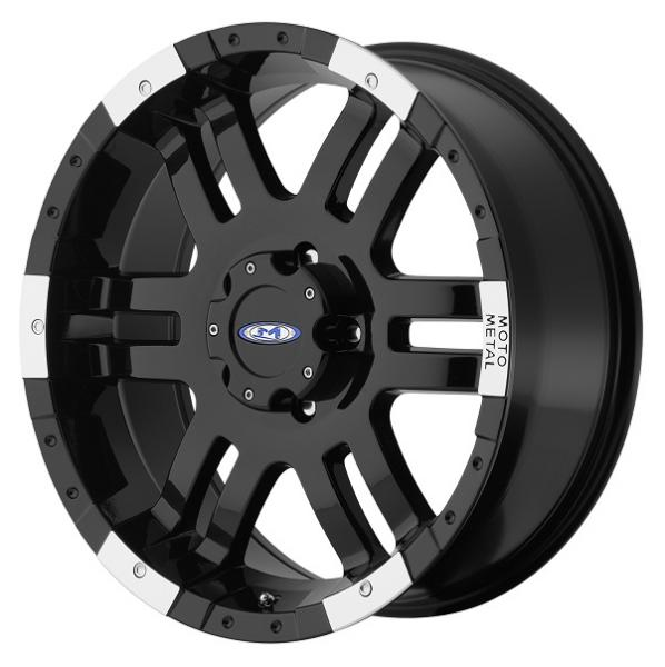 MO951 GLOSS BLACK RIM with MACHINED FACE by MOTO METAL WHEELS