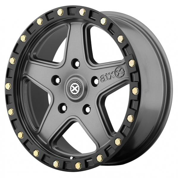 AX194 RAVINE MATTE GRAY RIM with BLACK REINFORCING RING by ATX SERIES WHEELS