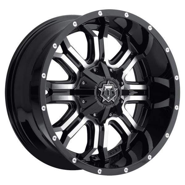 535MB GLOSS BLACK WITH MACHINED FACE by TIS WHEELS