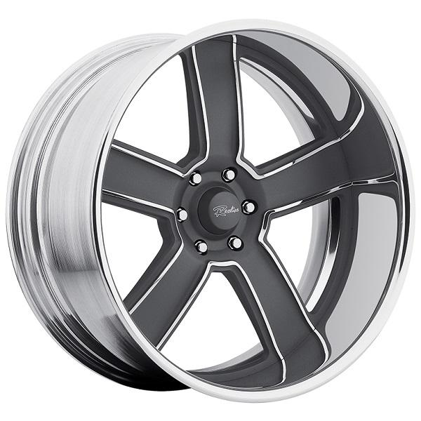 EXECUTIVE GRAY RIM with POLISHED FINISH by RACELINE WHEELS