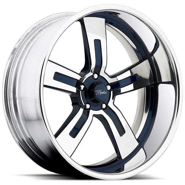 ROYALTY 5 BLUE RIM with POLISHED FINISH by RACELINE WHEELS