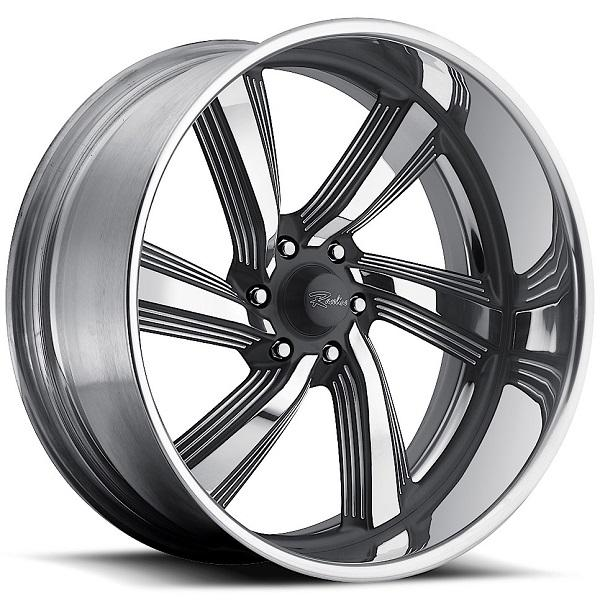 EXPLOSION 6 GRAY RIM with POLISHED FINISH by RACELINE WHEELS