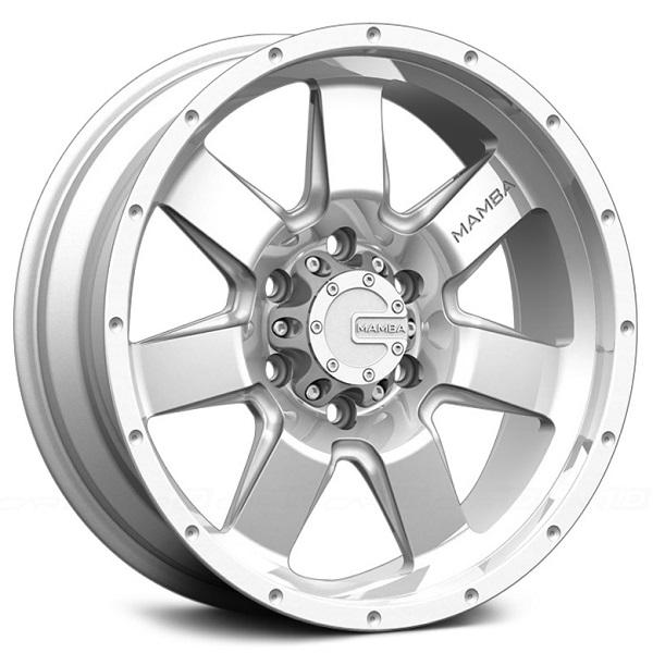 M14 SILVER RIM with MACHINED FACE by MAMBA OFFROAD WHEELS