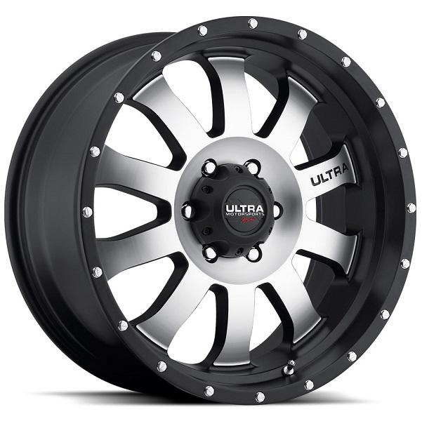 XTREME II X105 MATTE BLACK RIM with DIAMOND CUT FACE by ULTRA WHEELS