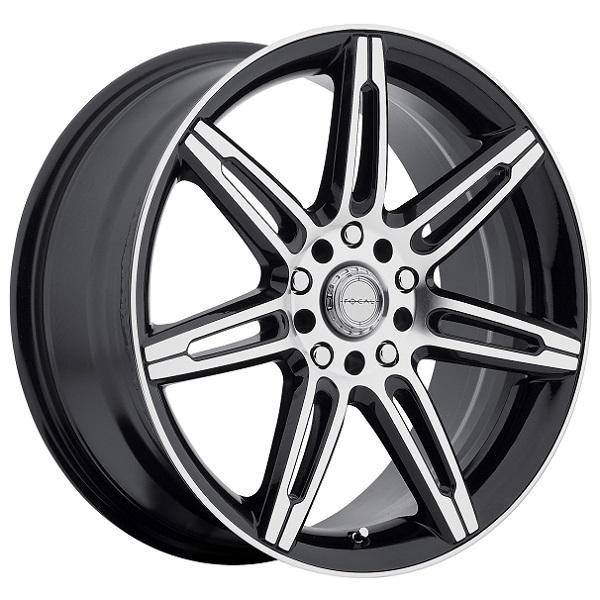F07 430 GLOSS BLACK RIM with DIAMOND CUT ACCENTS by FOCAL WHEELS
