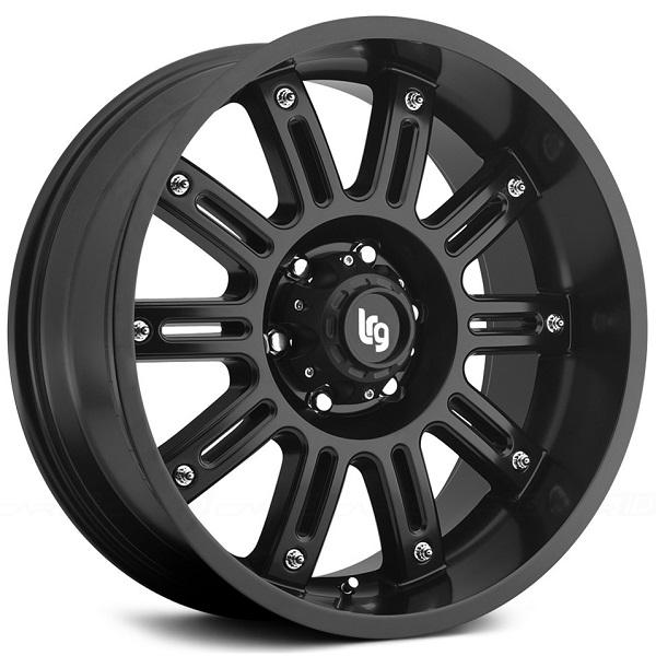 102 APACHE SATIN BLACK RIM by LRG WHEELS