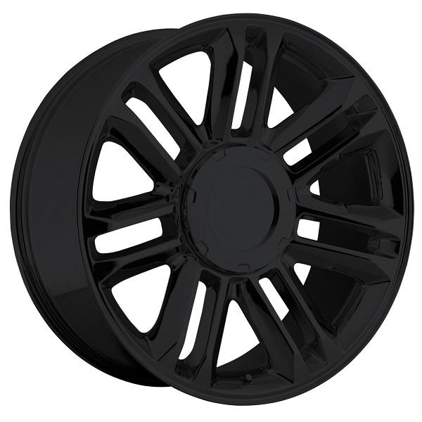 CADILLAC ESCALADE PLATINUM STYLE 39 GLOSS BLACK RIM by FACTORY REPRODUCTIONS WHEELS