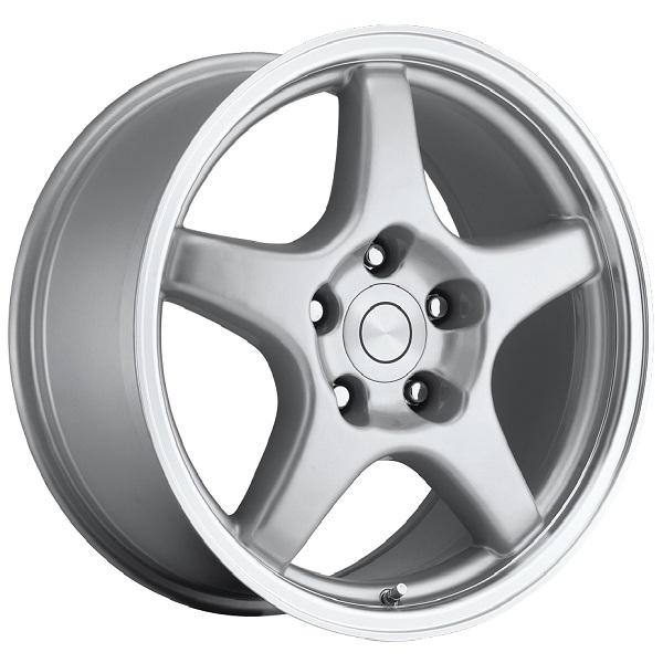 CORVETTE C4 ZR1 STYLE 21 SILVER MACHINED RIM by FACTORY REPRODUCTIONS WHEELS