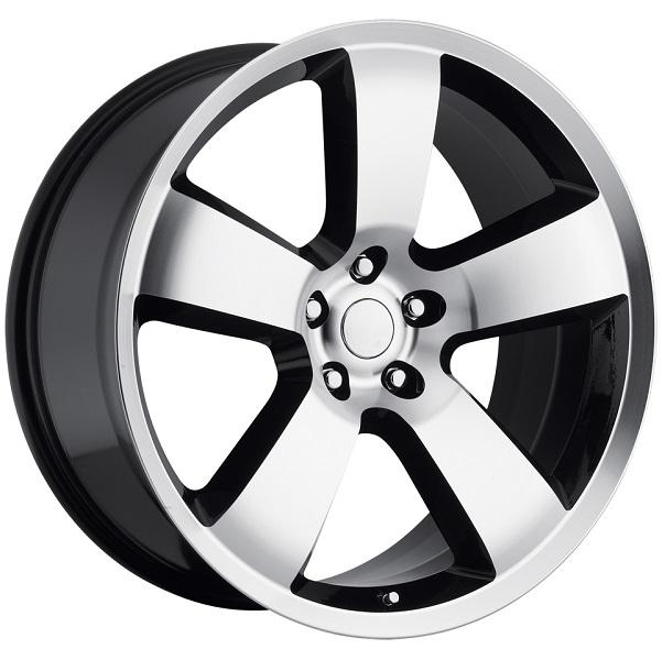 DODGE CHARGER SRT8 STYLE 61 BLACK MACHINED FACE RIM by FACTORY REPRODUCTIONS WHEELS