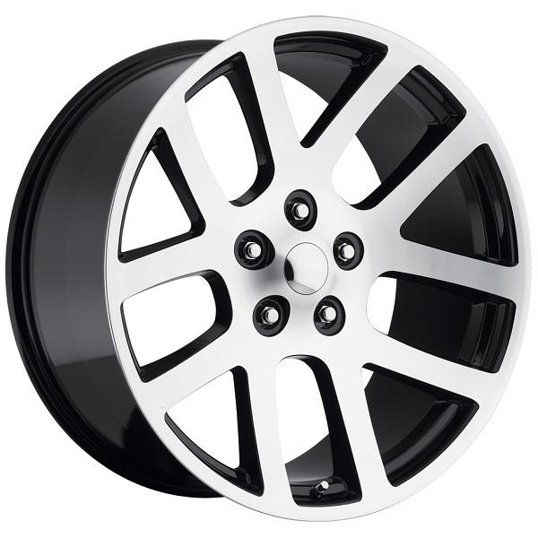 DODGE RAM SRT10 STYLE 60 BLACK MACHINED FACE RIM by FACTORY REPRODUCTIONS WHEELS