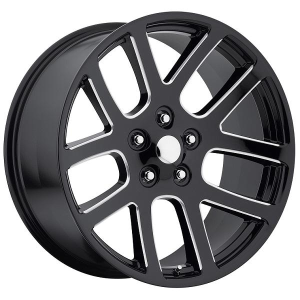 DODGE RAM SRT10 STYLE 60 GLOSS BLACK RIM with MILLED SPOKE by FACTORY REPRODUCTIONS WHEELS