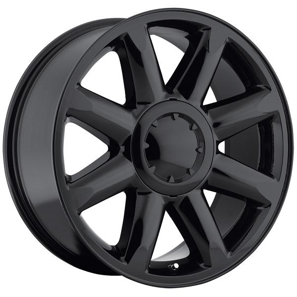 GMC DENALI STYLE 38 GLOSS BLACK RIM by FACTORY REPRODUCTIONS WHEELS