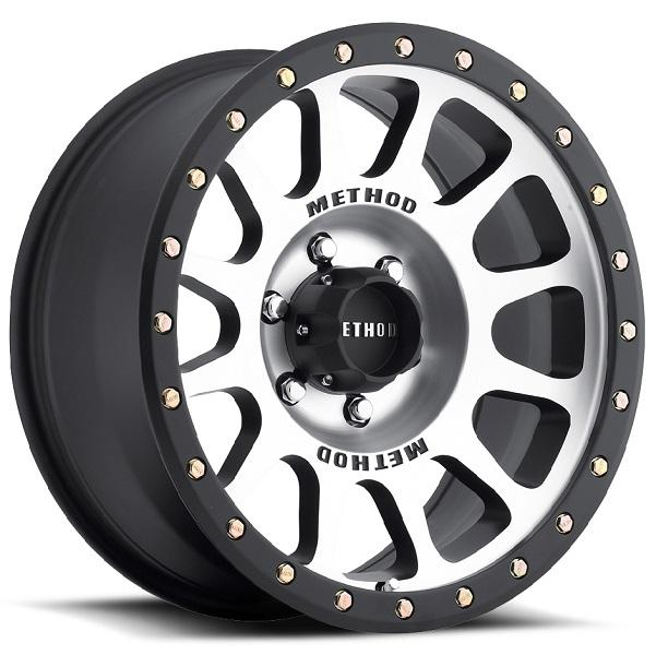 STREET MR305 NV MATTE BLACK RIM with MACHINED FACE by METHOD RACE WHEELS