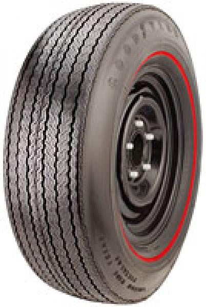 GOODYEAR SUPERGLAS REDSTRIPE by GOODYEAR ANTIQUE TIRE