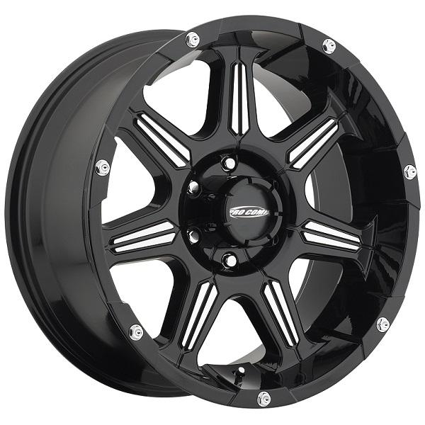 DISTRICT SERIES 8151 GLOSS BLACK RIM with MACHINED ACCENTS by PRO COMP ALLOYS WHEELS