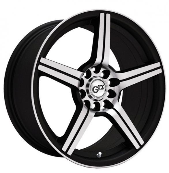 GFX G50 GLOSS BLACK RIM with MACHINED FACE by SPECIAL BUY WHEELS