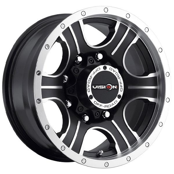 ASSASSIN 396 RWD OFF-ROAD MATTE BLACK RIM with MACHINED FACE by VISION WHEELS