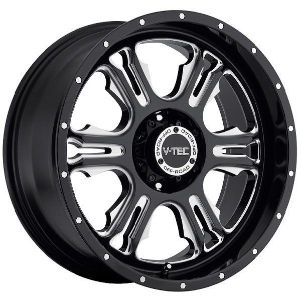 RAGE 397 RWD OFF-ROAD GLOSS BLACK RIM with MILLED ACCENTS by VISION WHEELS