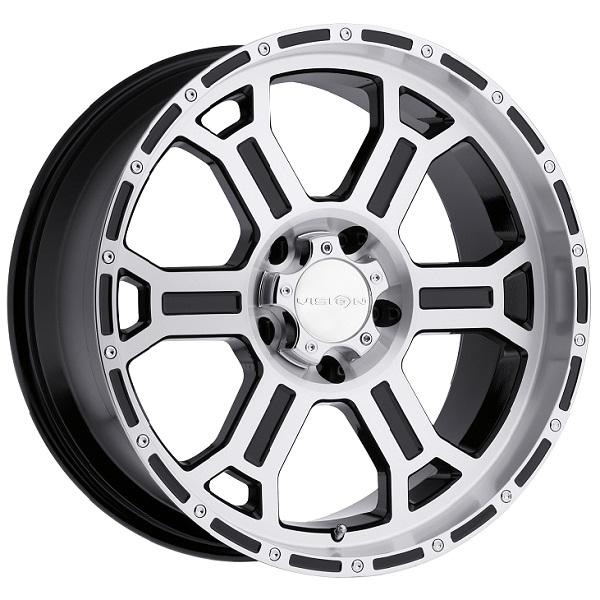 RAPTOR 372 RWD OFF-ROAD GLOSS BLACK RIM with MACHINED FACE and LIP by VISION WHEELS
