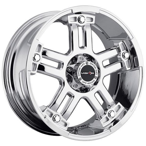 WARLORD 394 RWD OFF-ROAD PHANTOM CHROME RIM by VISION WHEELS