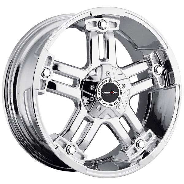 WARLORD 394 RWD OFF-ROAD PHANTOM CHROME RIM with COVERED CAP by VISION WHEELS