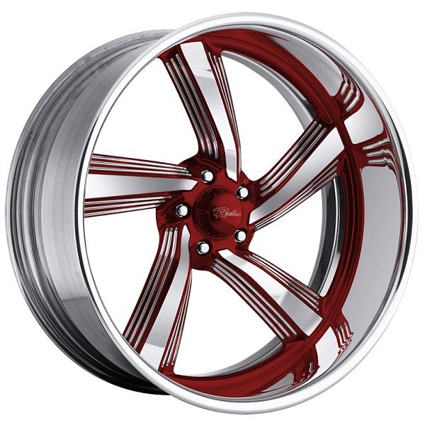 EXPLOSION 5 RED with POLISHED FINISH by RACELINE WHEELS