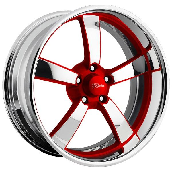 SPEEDSTER 5 RED RIM with POLISHED FINISH by RACELINE WHEELS