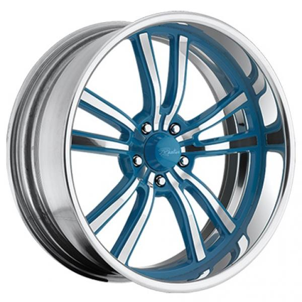 STATIC 5 BLUE RIM with POLISHED FINISH by RACELINE WHEELS