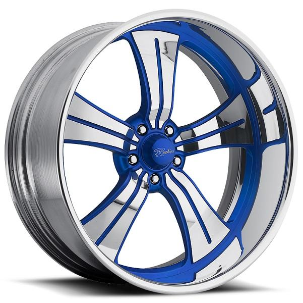 STATUS 5 BLUE RIM with POLISHED FINISH by RACELINE WHEELS