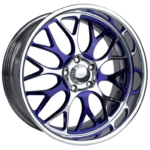 LEGACY PURPLE RIM with POLISHED FINISH by RACELINE WHEELS