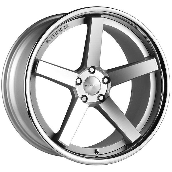 SC-5IVE MATTE SILVER MACHINED RIM with SS LIP by STANCE WHEELS