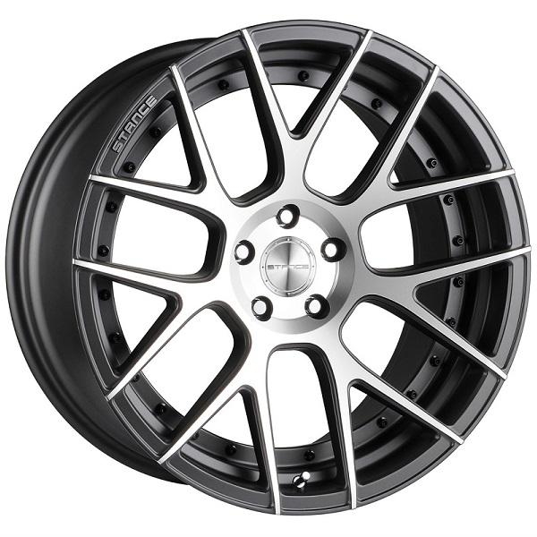 SC-8 SLATE GREY RIM with MACHINED FACE by STANCE WHEELS