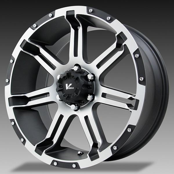 VR1 OVERDRIVE BLACK RIM with MACHINED FACE by V-ROCK WHEELS