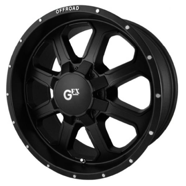 TR-2 MATTE BLACK RIM with MACHINE FLANGE by GFX WHEELS